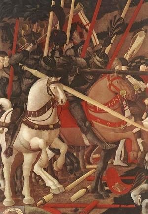 Paolo Uccello - Bernardino della Ciarda Thrown Off His Horse (detail-1) 1450s