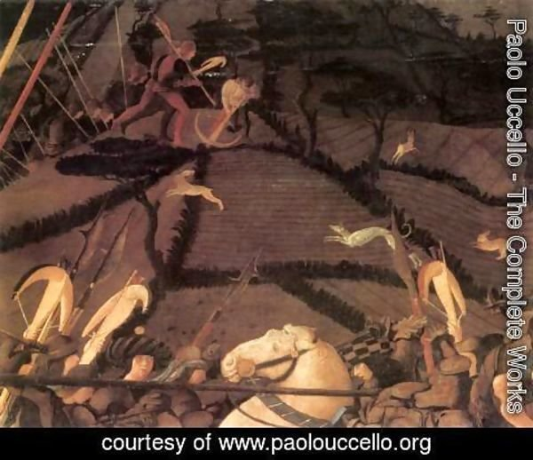 Paolo Uccello - Bernardino della Ciarda Thrown Off His Horse (detail-3) 1450s