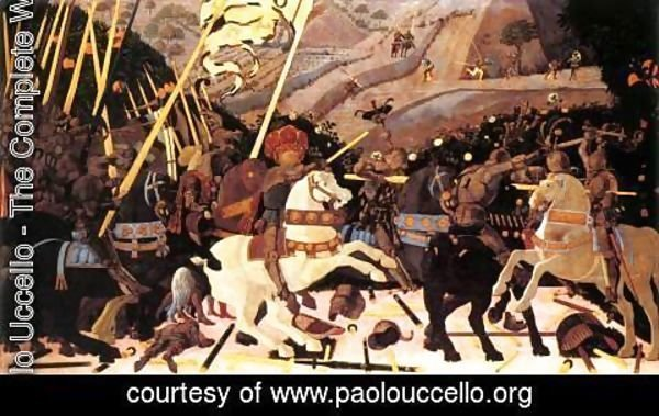 Paolo Uccello - Niccolo da Tolentino Leads the Florentine Troops 1450s