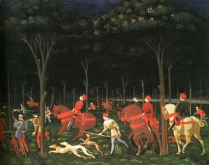 The Hunt in the Forest (right half) 1460s