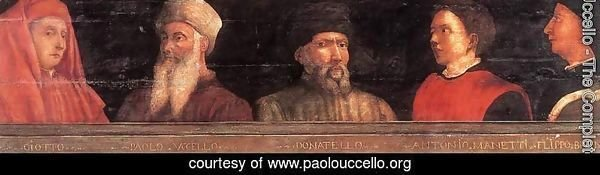 Portraits of Giotto, Uccello, Donatello, Manetti and Bruno