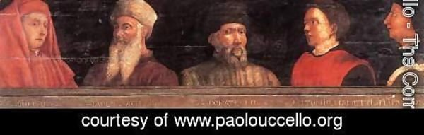 Paolo Uccello - Portraits of Giotto, Uccello, Donatello, Manetti and Bruno
