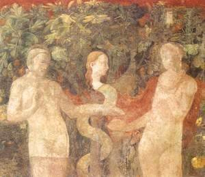 Paolo Uccello - Creation Of Eve And Original Sin (detail)