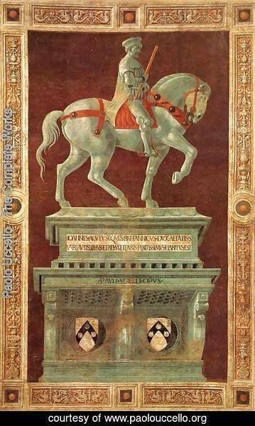 Paolo Uccello - Funerary Monument to Sir John Hawkwood 1436