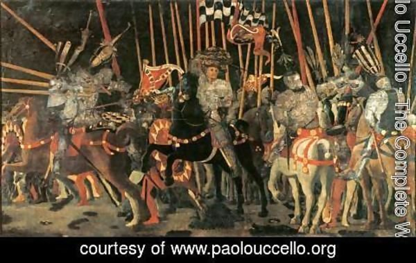 Paolo Uccello - Micheletto da Cotignola Engages in Battle 1450s