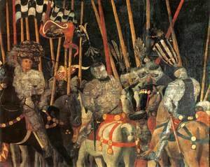 Paolo Uccello - Micheletto Da Cotignola Engages In Battle (detail)
