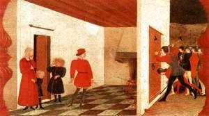 Paolo Uccello - Miracle of the Desecrated Host (Scene 2) 1465-69