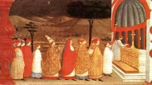 Paolo Uccello - Miracle of the Desecrated Host (Scene 3) 1465-69