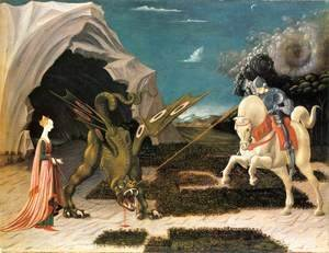 Paolo Uccello - St. George and the Dragon c. 1456