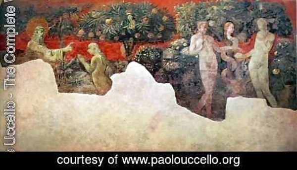 Paolo Uccello - Stories of Genesis Creation of Eve and the Expulsion