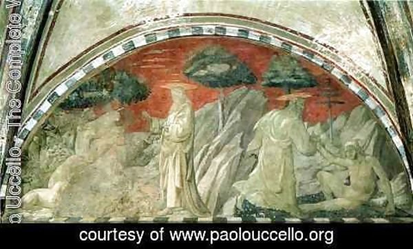 Paolo Uccello - Stories of Genesis Creation of the Animals and Creation of Adam