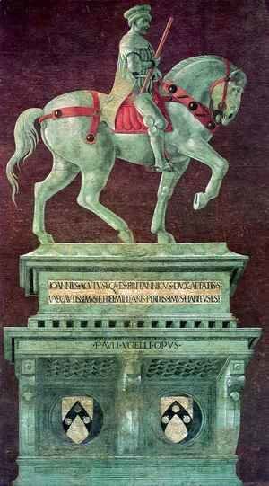 Paolo Uccello - Equestrian Monument to Sir John Hawkwood