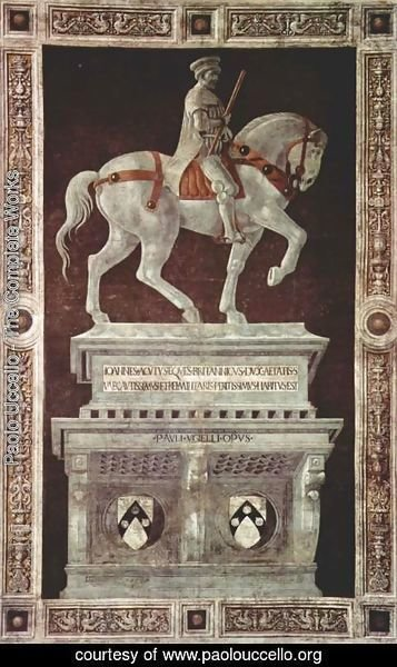 Paolo Uccello - Painted statue of Giovanni Acuto (John Hawkwood)