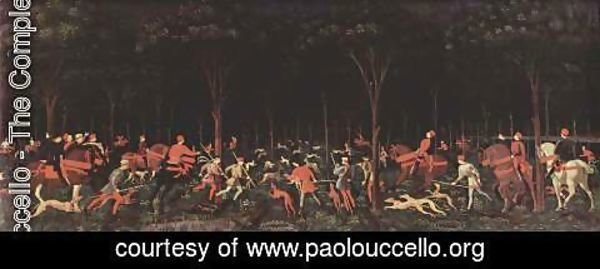 Paolo Uccello - Hunting at night