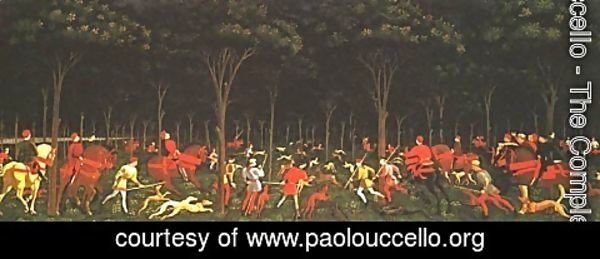 Paolo Uccello - Hunt in the Forest